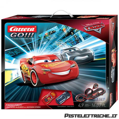 Pista Elettrica Carrera GO Disney Pixar Cars® 3 Finish First !