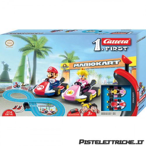 Pista Elettrica Carrera First Nintendo Mario Kart Peach